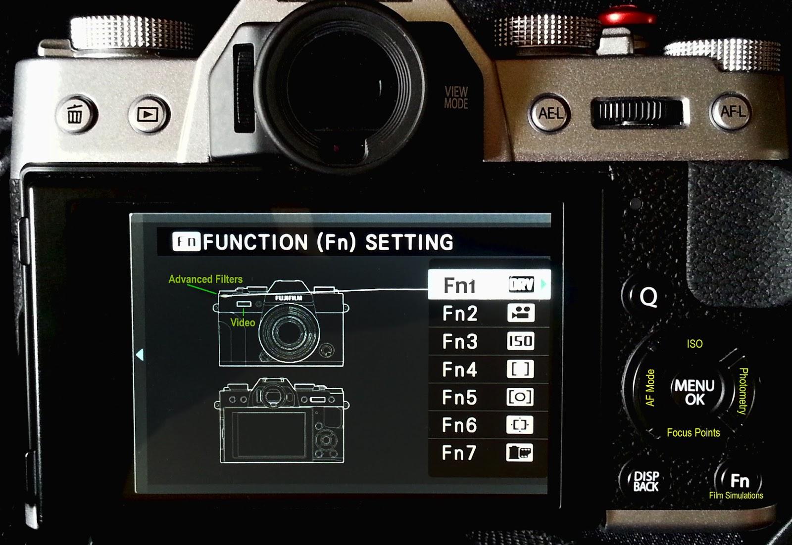 XT 10 FN Button Set Up