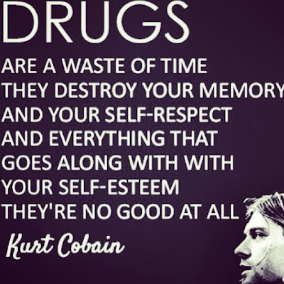 Kurt Cobain anti-drug quote