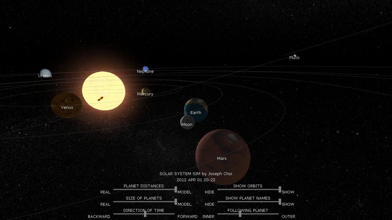 solar system maps simulations - photo #12