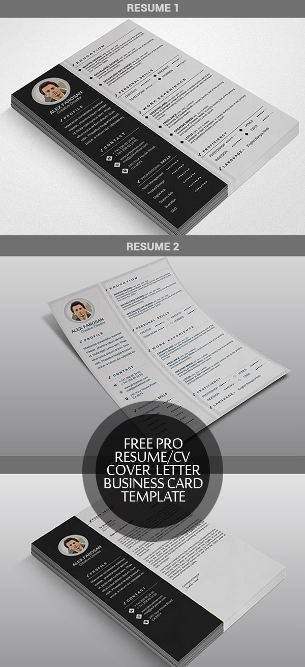 Template Resume / CV Terbaru 2017 - Free Resume/CV + Cover Letter + Business Card Template
