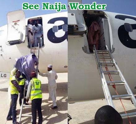 passenger ladder to get down airplane
