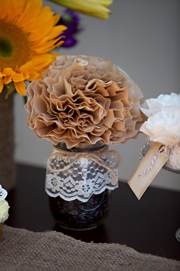 sunflower+flowers+floral+florals+yellow+autumn+fall+lace+burlap+wedding+reception+ceremony+dessert+table+celeste+and+michelle+detail+7 - Sunflower Biscotti