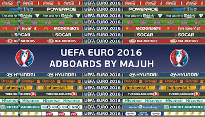 PES 2016 Adboard Pack v1.4 UEFA Euro 2016 adboards compatible with DLC 3.00 by majuh