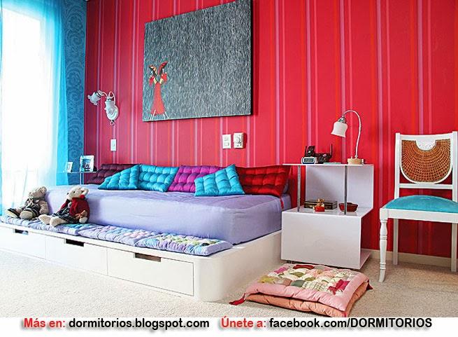 Decoraci n de dormitorios con cojines for Cuartos de ninas lujosos