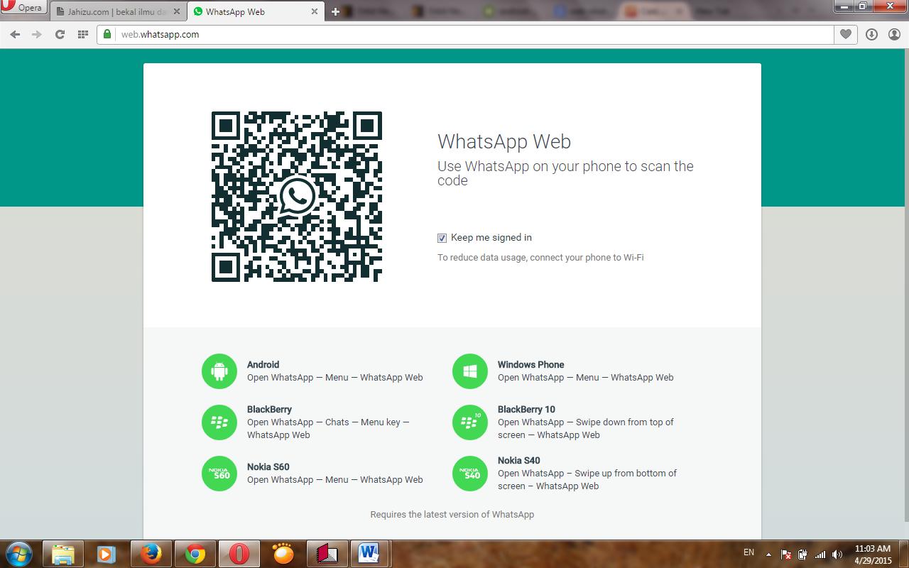 cara melihat barcode whatsapp