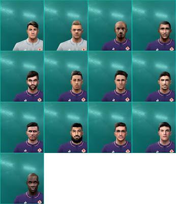 PES 6 Facepack ACF Fiorentina 2018 by Dewatupai