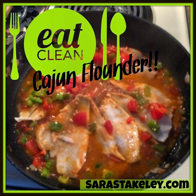 Sara Stakeley One Skillet Cajun Flounder