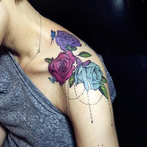 kadın omuz dövmeleri woman shoulder tattoos 5