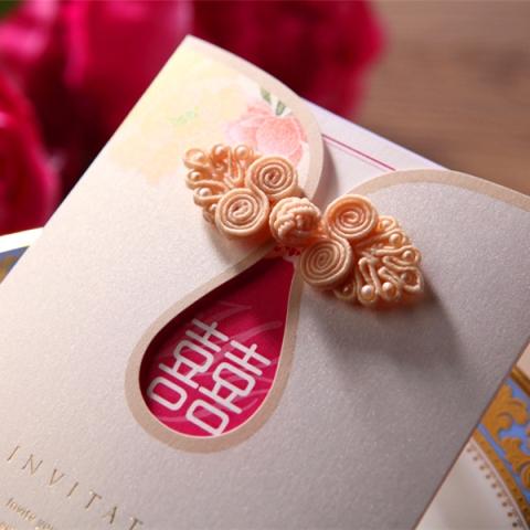 Chinese Knot Wedding Invitation Card, pearl, peony, peonies, colourful, modern, button, cheong sam, dress, printing, malaysia, kuala lumpur, selangor, bespoke, custom design, handmade, hand crafted, asian, canada, melbourne, nsw, adelaide, sydney, australia, new zealand, auckland, oriental
