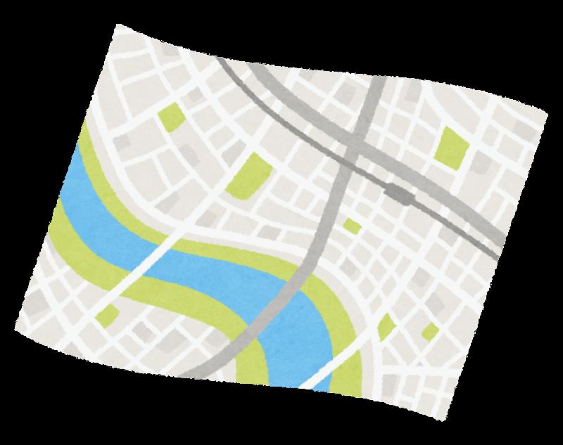 開いた地図のイラスト かわいいフリー素材集 いらすとや