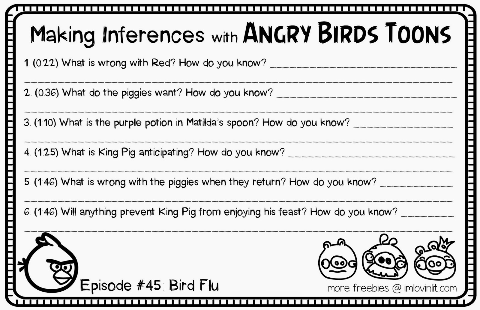 Using Cartoons To Teach Inferences Freebie