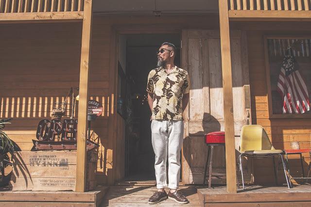 アロハ パイナップル  ヴィンテージ ハワイアン シャツ 東洋 サンサーフ 日本製 シュガーケーン 着こなし コーディネート