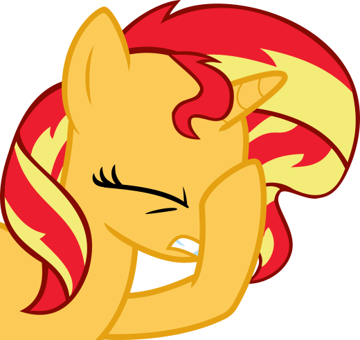 Sunset Shimmer facehoof