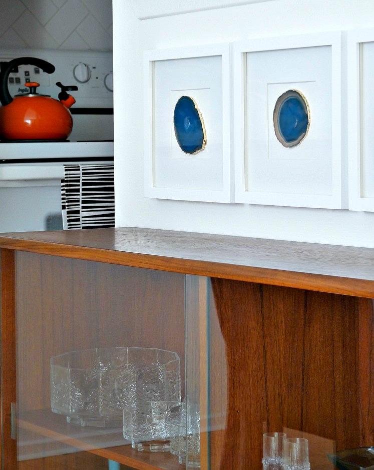 DIY framed agate