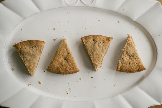 whole wheat honey shortbread
