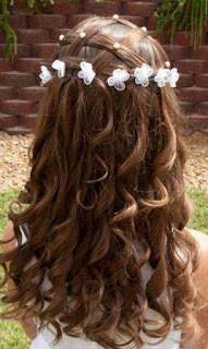 Simple Braided Hairstyles for Flower Girls