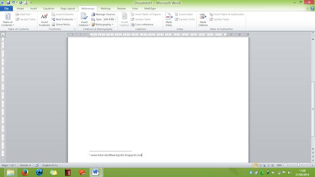 secara bahasa berarti catatan kaki maksudnya ialah catatan dibawah halaman Cara Membuat Footnote (Catatan Kaki) di MS Word