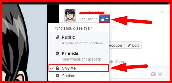 how to make certain albums private on facebook