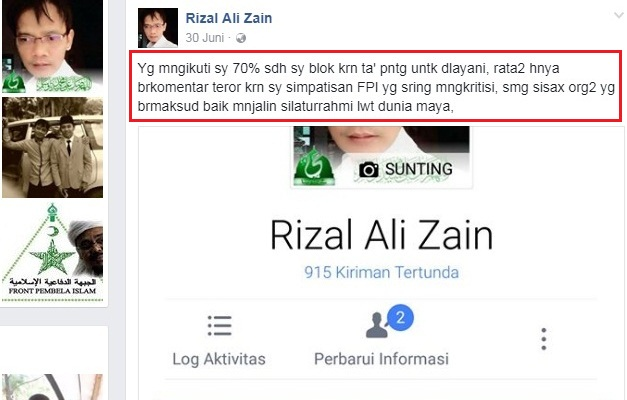 Image result for Rizal Ali Zain