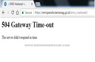 Cara Ampuh Mengatasi Error 504 Gateway Time-Out di EMIS Oline