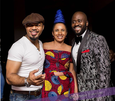 ramsey noah desmond elliot and fiberisima AMVCA 2016 after party