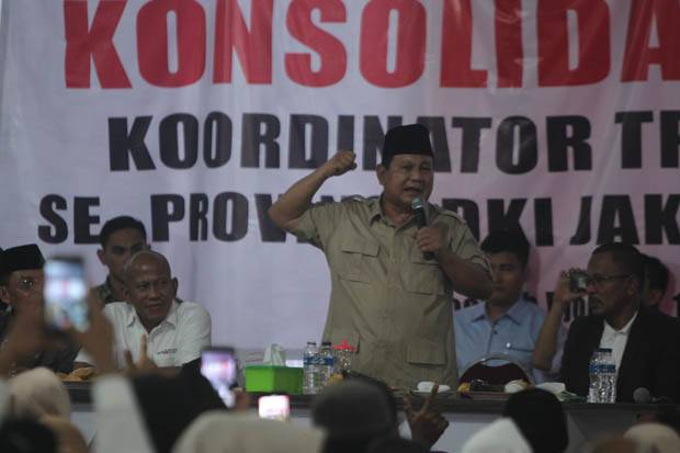 Prabowo: Saya Mengaku Bagian dari Elite, tapi yang Sadar