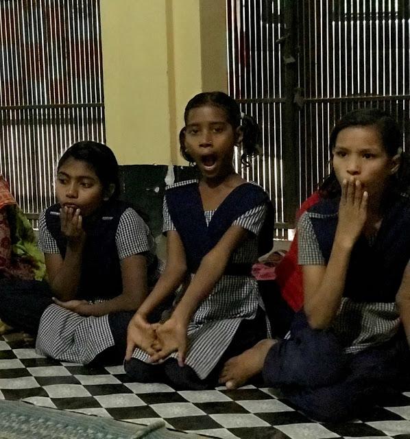 street children tired after a days work