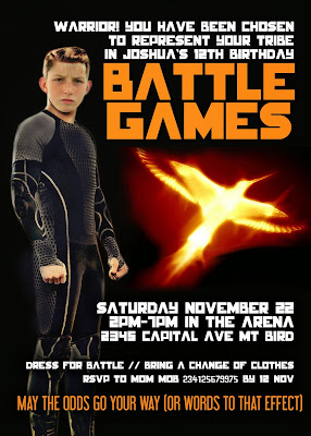 Hunger Games-ish Personalized Invitation with photo