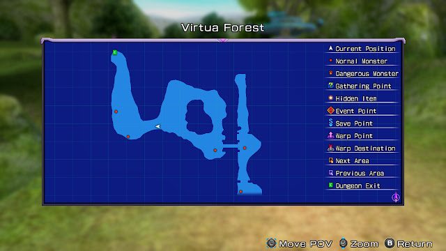 Hyperdimension Neptunia Re;birth1 Virtua Forest map