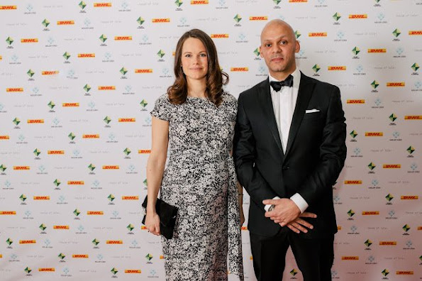 Princess Sofia of Sweden attended a charity dinner for the benefit of Project Playground at the Auktionsverket Kulturarena in Göteborg city of Sweden.