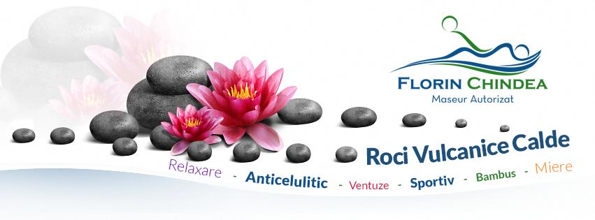 Beneficiile masajului cu roci vulcanice calde. Un nou tip de masaj pe care îl fac în Timişoara. Logo