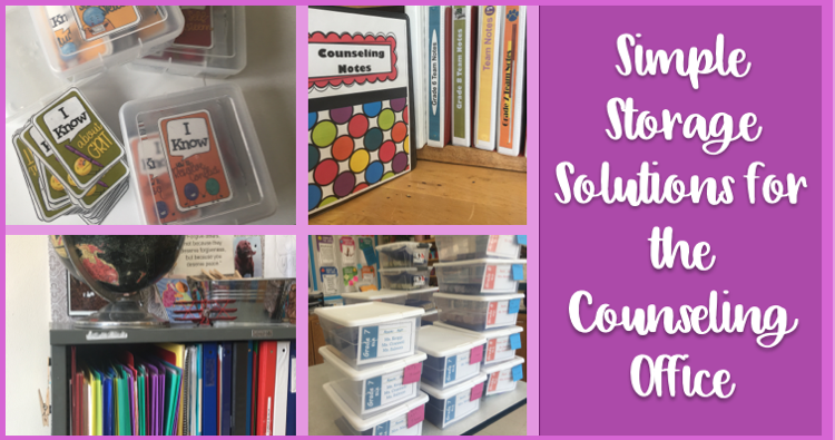 If you are like me time is of essence and storing and searching for counseling materials needs to efficient quick and easy. & Counseling Office Storage Solutions - The Middle School Counselor