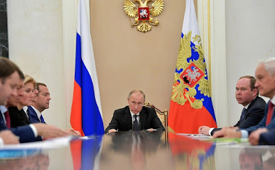 Vladimir Putin held a meeting with Russian Government members.