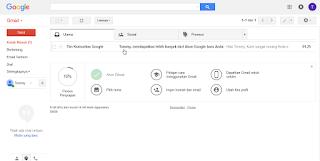 Halaman utama kotak surat Gmail