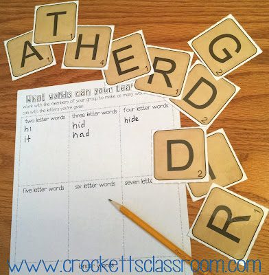 First Day word building freebie