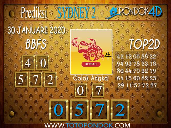 Prediksi Togel SYDNEY 2 PONDOK4D 30 JANUARI 2020