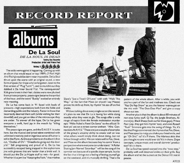 De La Soul Is Dead (May 14, 1991) The Source May 1991 Album Review