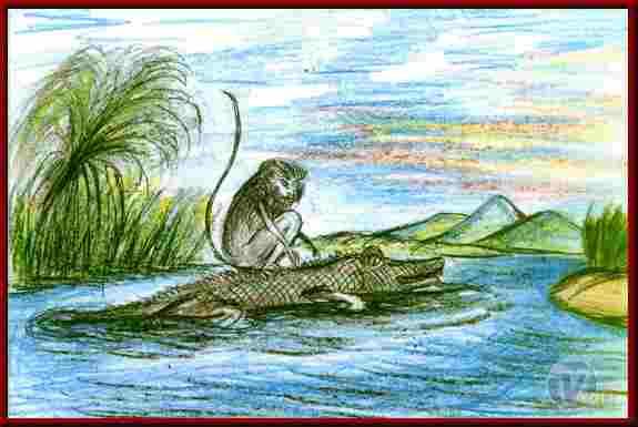 The Heart of the Monkey ~ Jatak Tales In Hindi | बंदर का हृदय ~ जातक कथाएँ