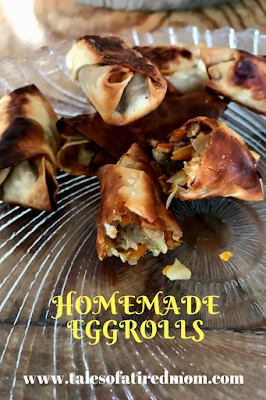 Homemade eggrolls are the appetizer you can bring to any party and they are guaranteed to be a favorite. Get one before they are all gone!