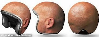 Helm Unik Model Kepala Botak