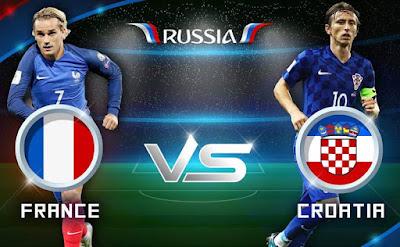 موعد عرض ومشاهدة المباراة الختامية لكأس العالم 2018  بين  فرنسا وكرواتيا   بتاريخ 15-07-2018