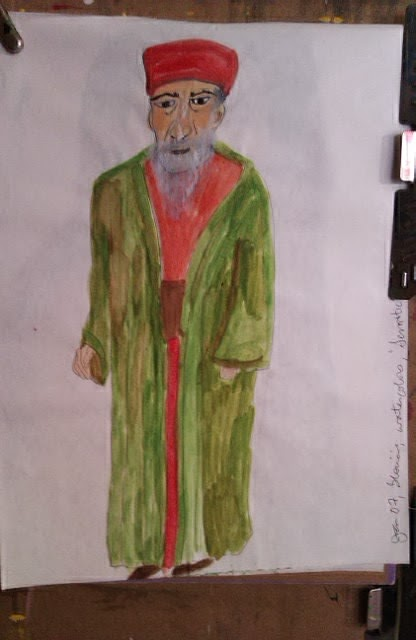 Semite sketch by Gloria Poole