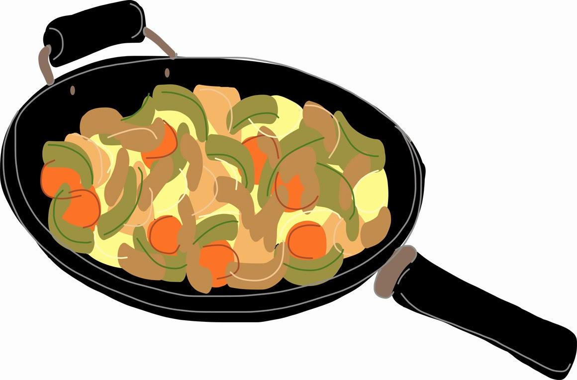 Fried Chicken Clip Art: Elma's Kitchen: Stir Fry Illustration