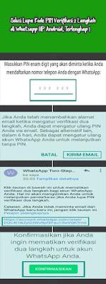 Solusi Lupa Kode Pin Verifikasi 2 Langkah Whatsapp di Hp Android, TERLENGKAP !