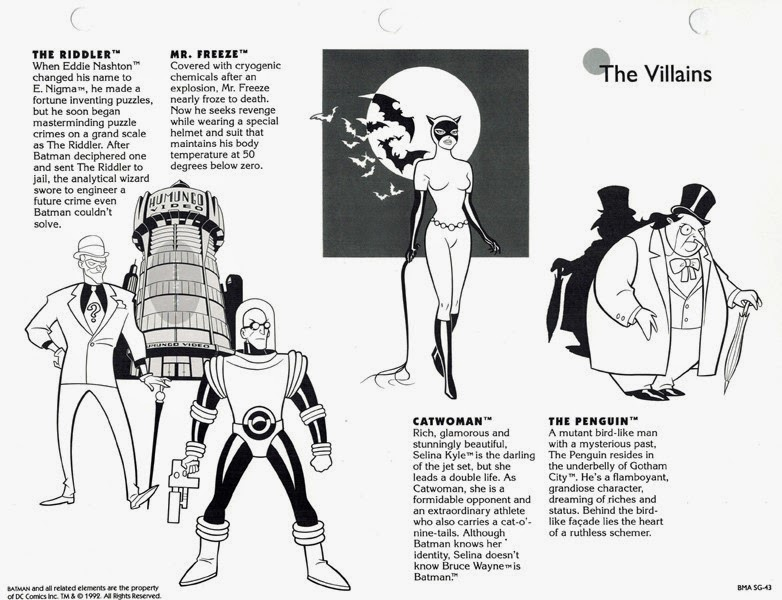 Batman The Animated Series Style Guide