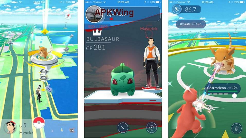 Pokemon Go App Screenshot