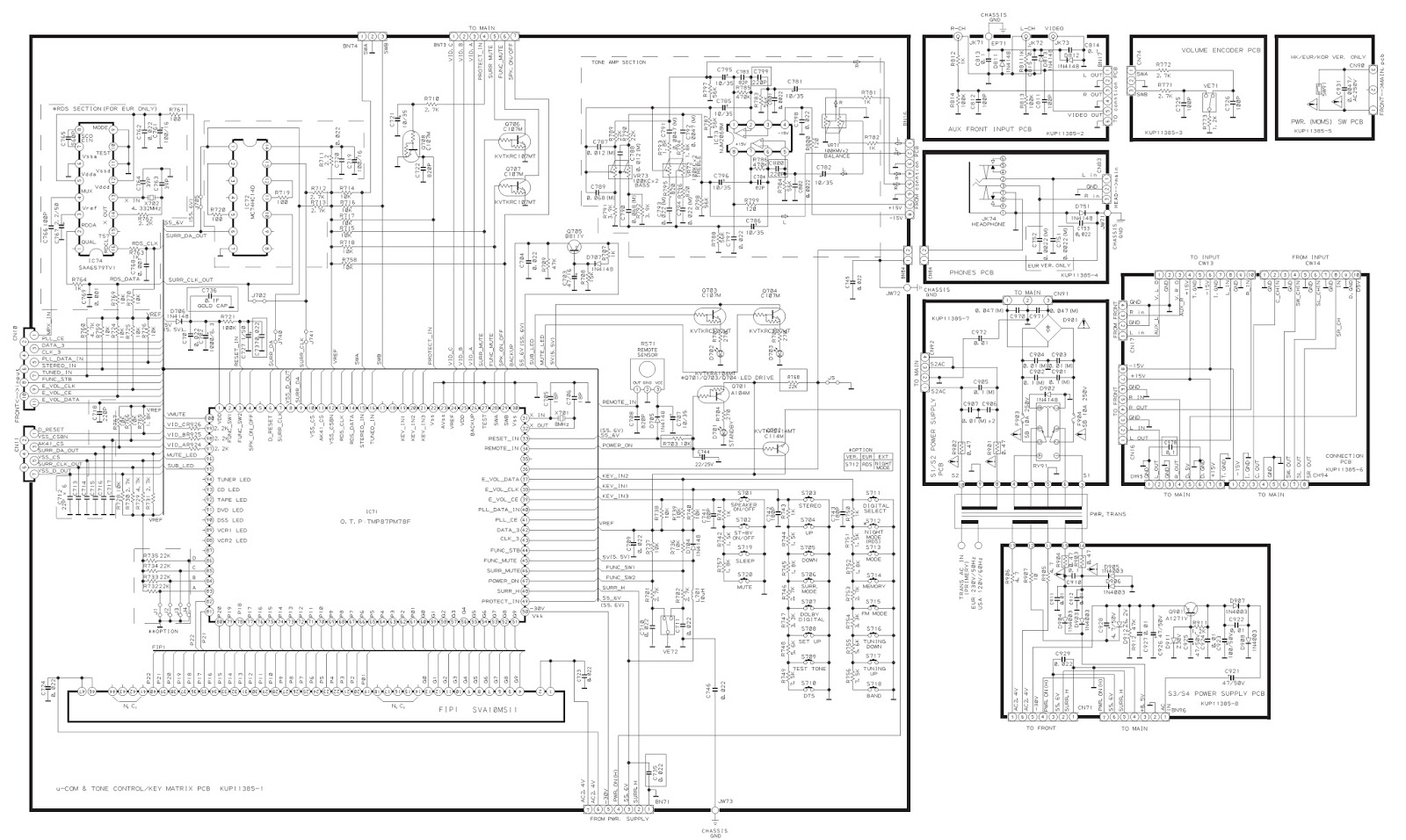 Teac Ag D9260 Digital Home Theater System Schematic