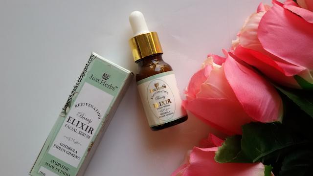 Just Herbs Gotukola Indian Ginseng Rejuvenating Beauty Elixir Review
