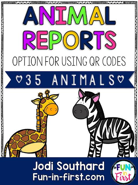 https://www.teacherspayteachers.com/Product/Animal-Reports-2446758