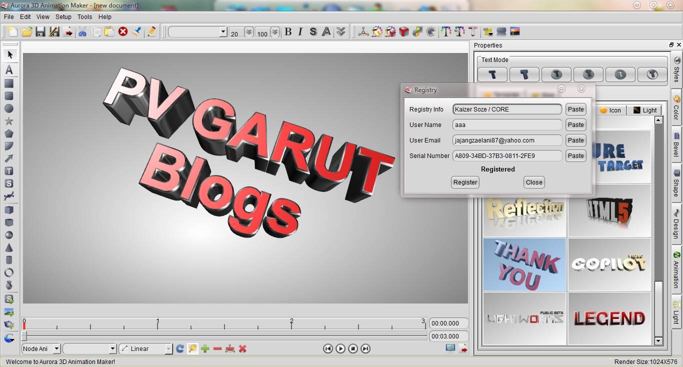 💐 Free download aurora 3d animation maker full keygen